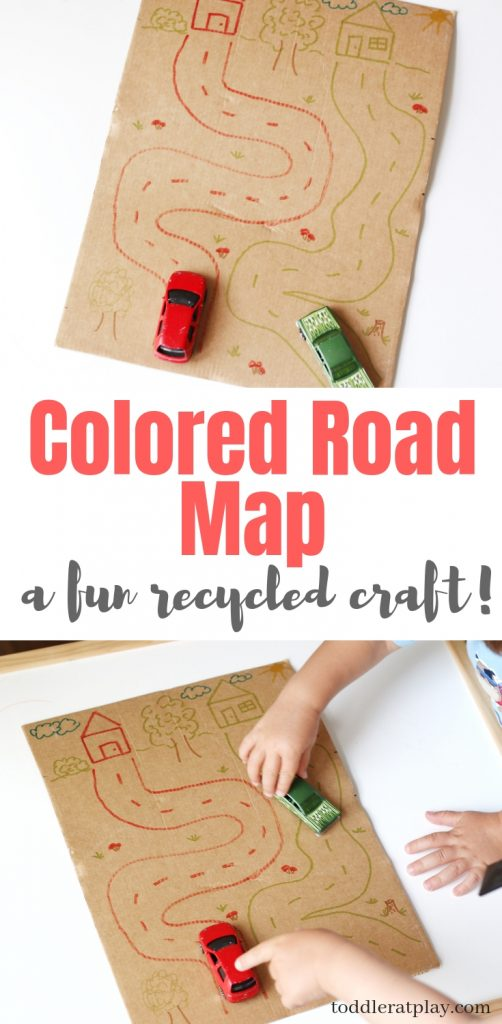 cardboard map