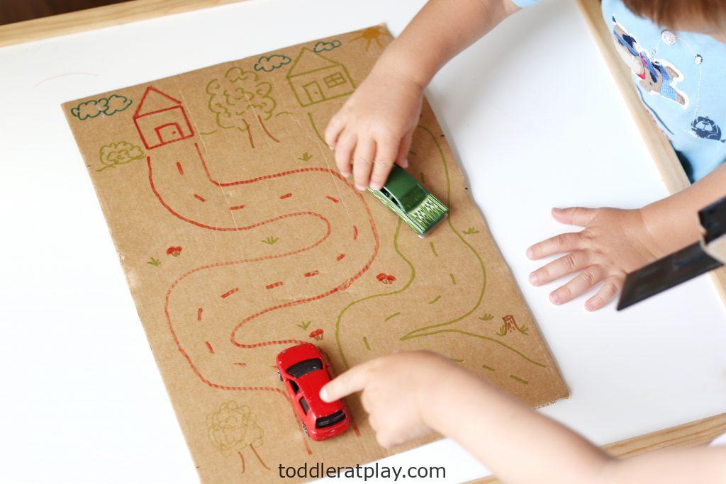 cardboard road map (2)