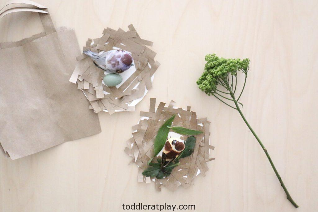 recycled bird's nest craft- toddler at play (3)