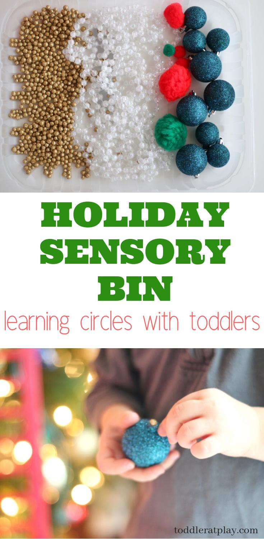 holiday sensory bin