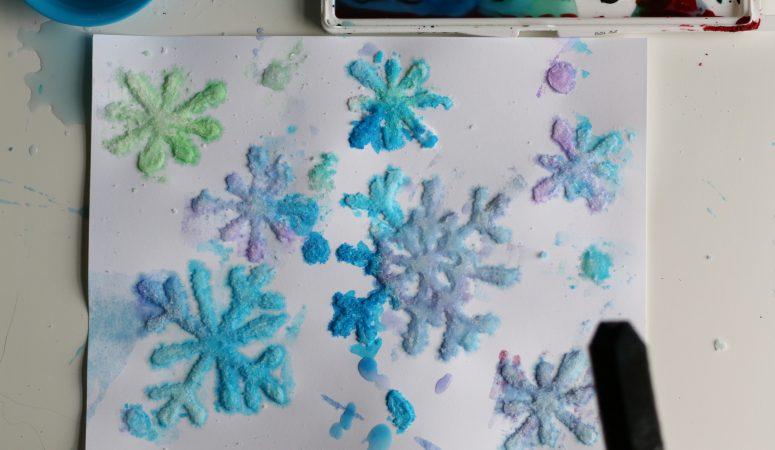 Salt Snowflakes Painting Craft (VIDEO)