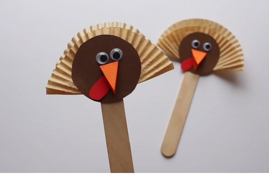 Turkey Puppets Craft (VIDEO)