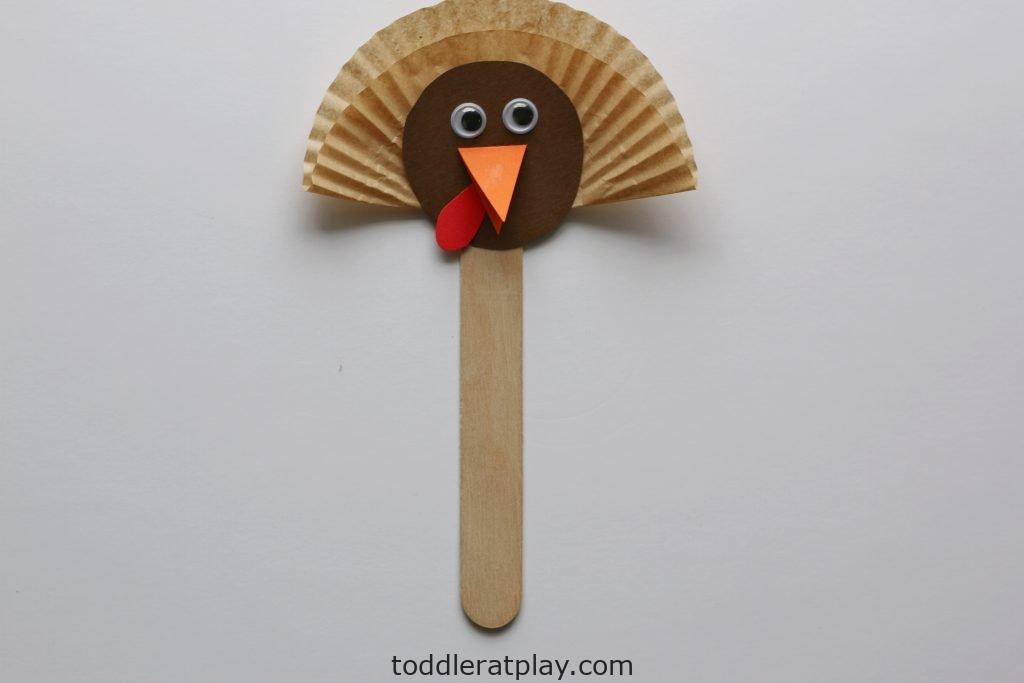 turkey puppets - toddler at play