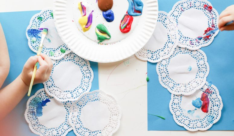 Doily Fireworks Craft