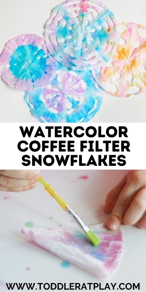 watercolor coffee filter snowflakes (2)