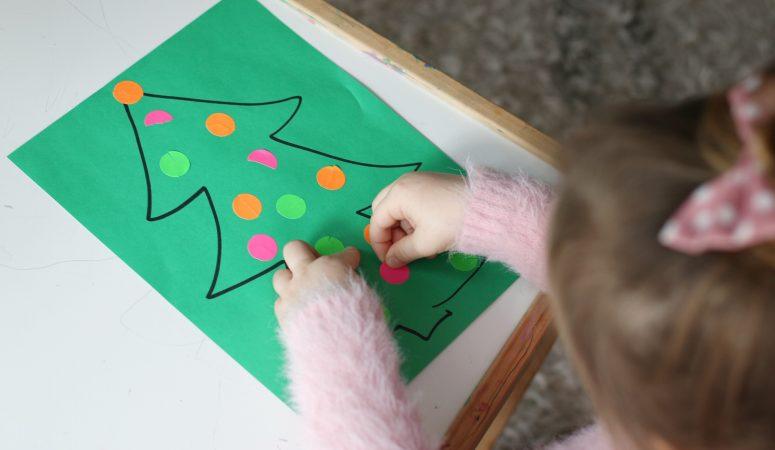 Dot Sticker Ornament Match Activity