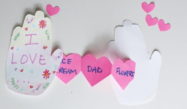 Handprint Valentine's Day Card Craft
