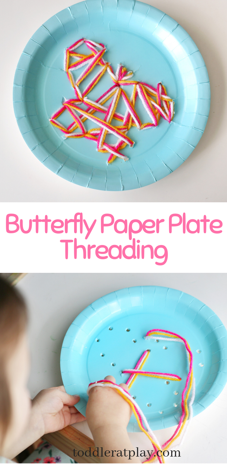 Butterfly Paper Plate Threading- toddler at play (3)