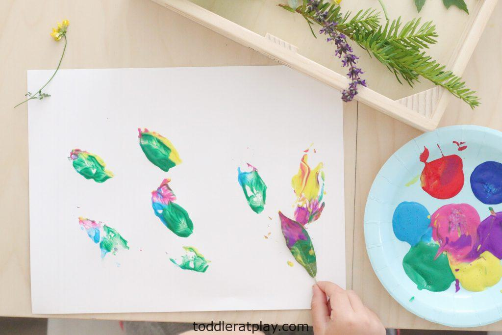 painting with nature- toddler at play (13)