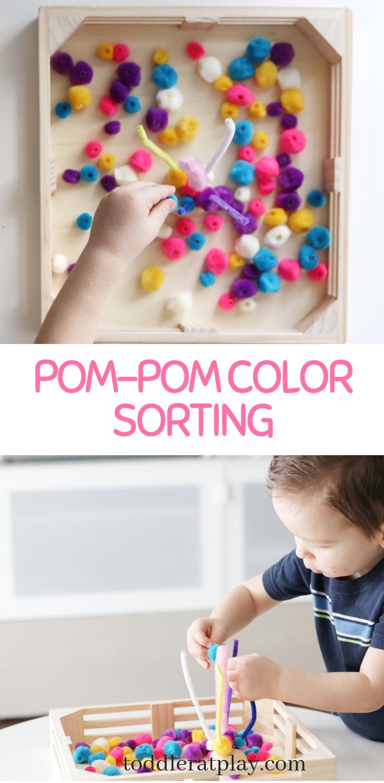 pom-pom color sorting- toddler at play (5)