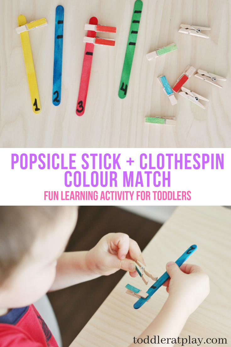 popsicle stick +clothespin Colour match- toddler at play (3)