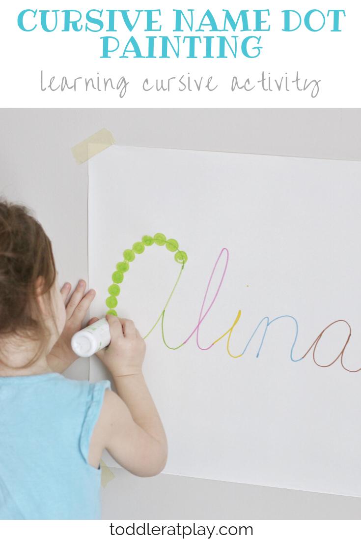 cursive name dot painting- toddler at play (1)