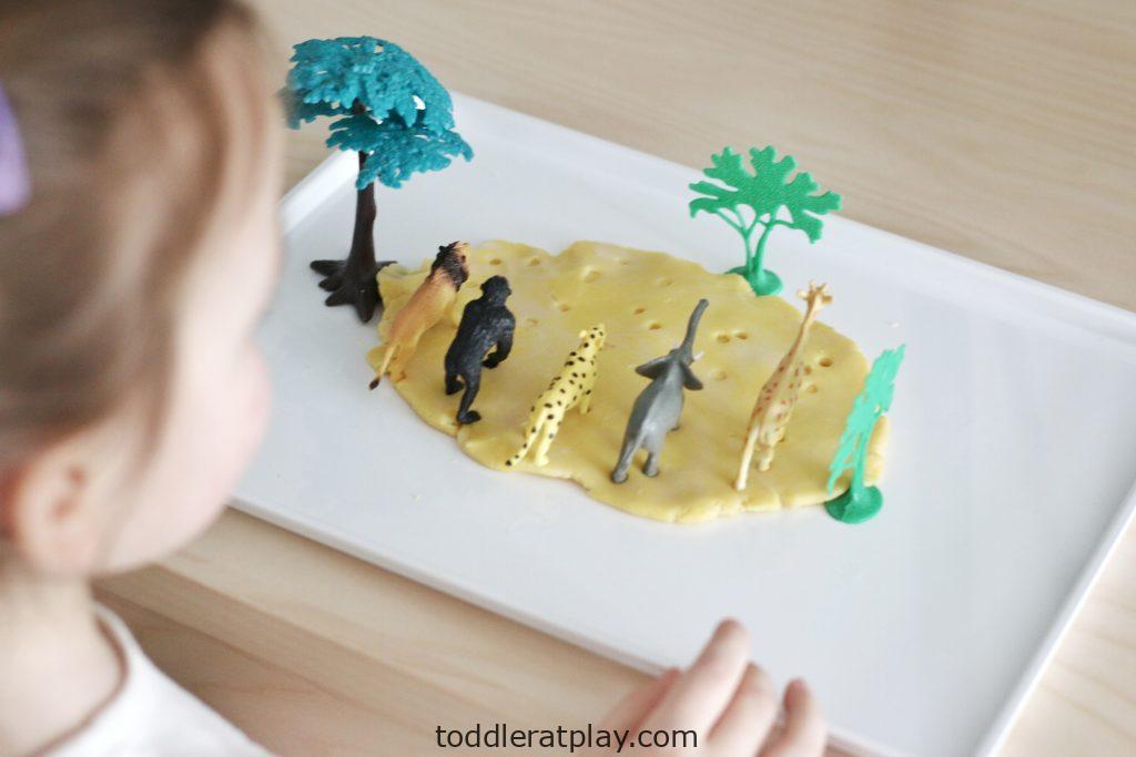 safari play-dough footprints- toddler at play (5)