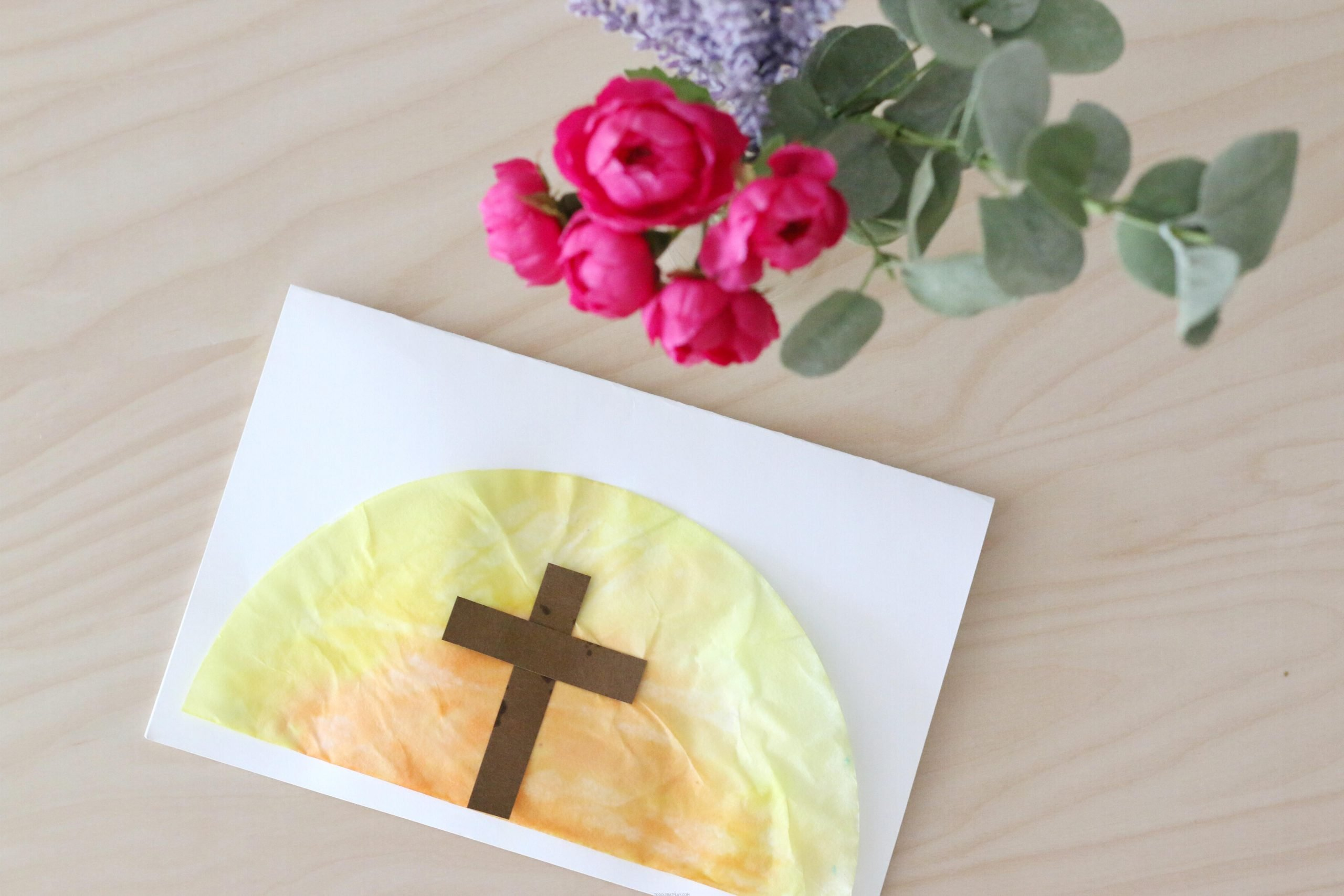 Coffee Filter Easter Sunrise Card (VIDEO)
