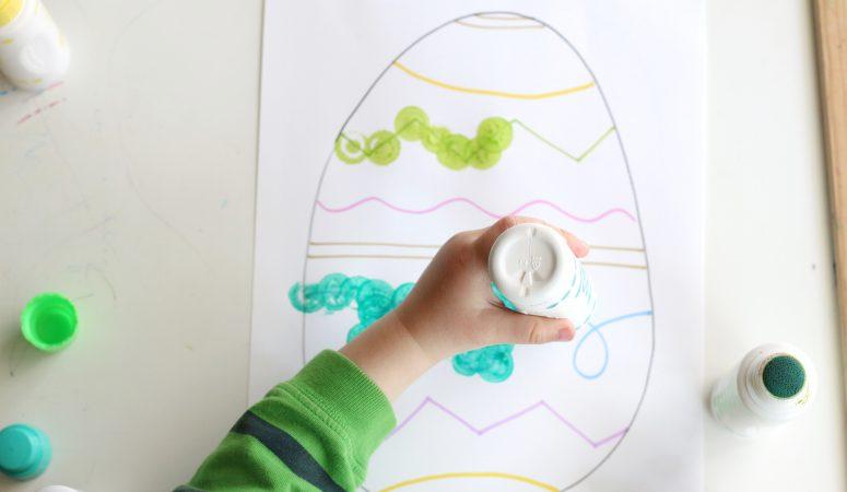 Easter Egg Dot Painting
