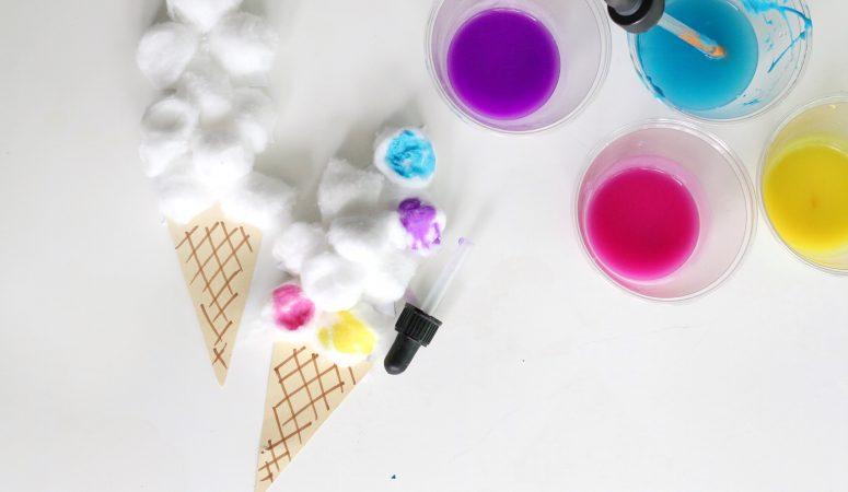 Cotton Ball Ice Cream Craft