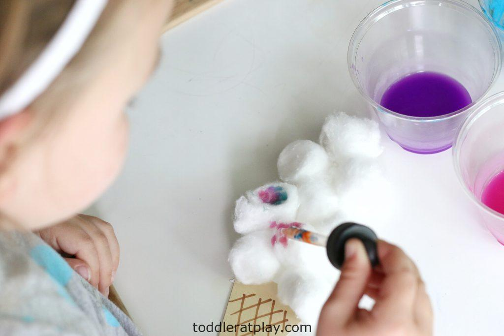 cotton ball ice cream craft- toddler at play (15)