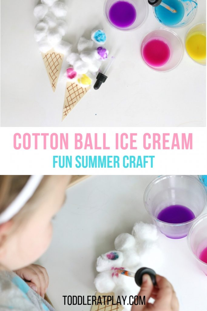 cotton ball ice cream craft- toddler at play (8)