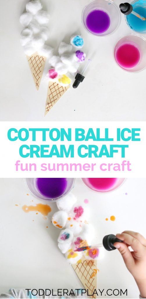 cotton ball ice cream craft- toddler at play (9)