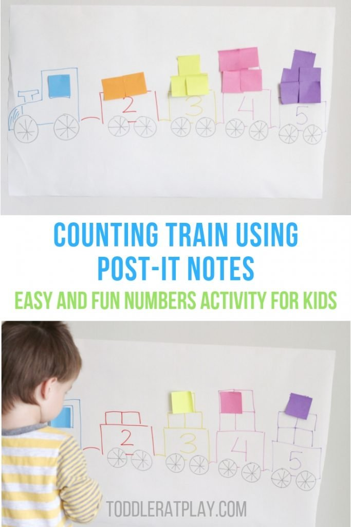 counting train using post-it notes- toddler at play (10)