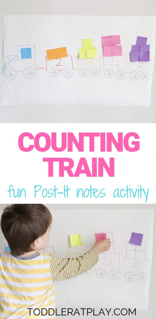 counting train using post-it notes- toddler at play (11)