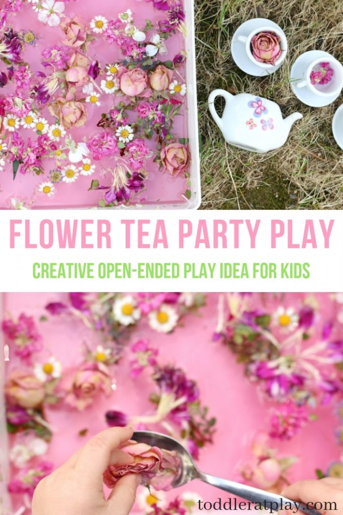flower tea party play- toddler at play (1)