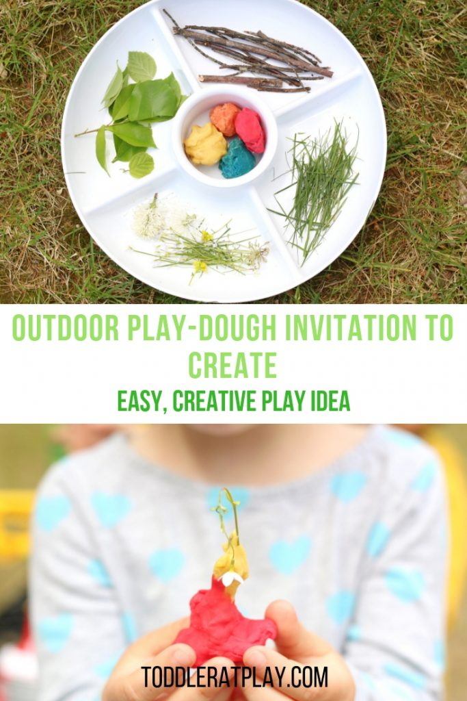 outdoor play-dough invitation to create- toddler at play (9)