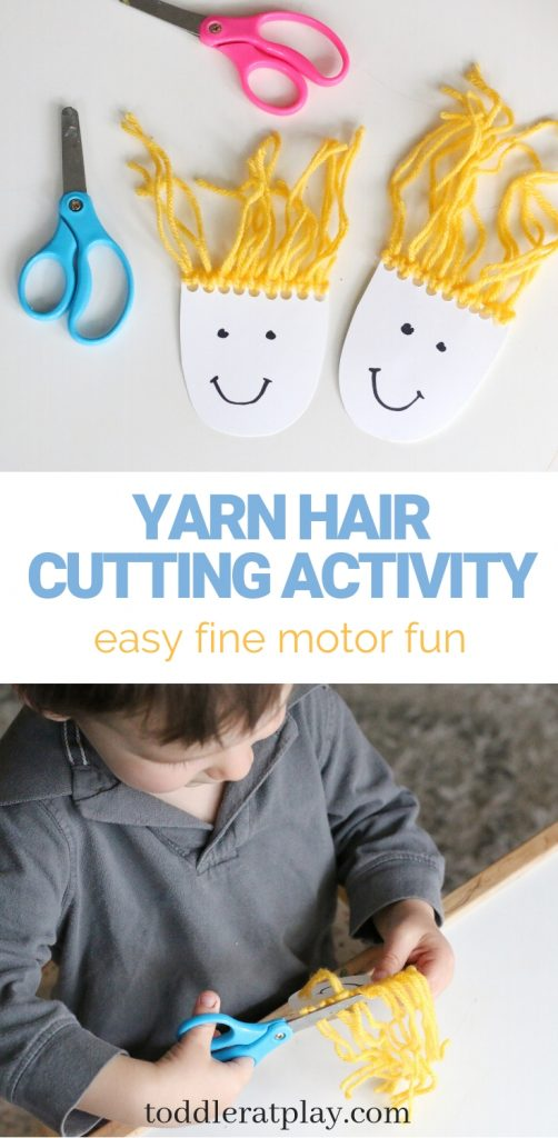 yarn hair cutting activity- toddler at play (14)