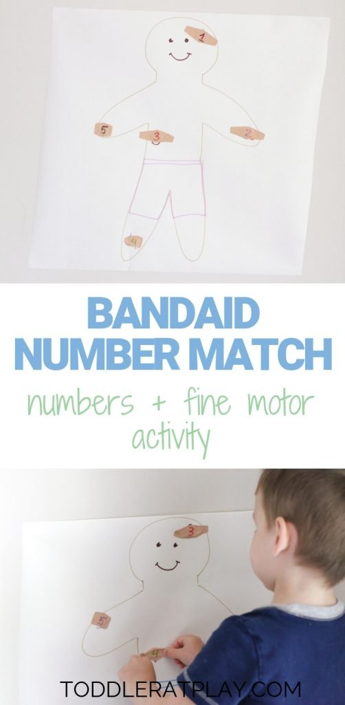 bandaid number match- toddler at play (13)