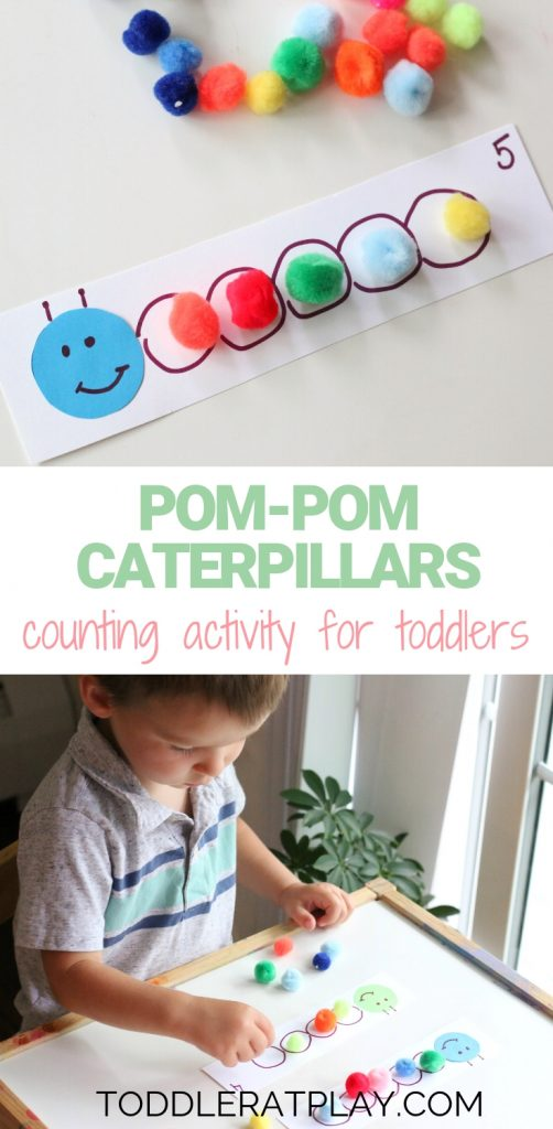 pompom caterpillars counting activity - toddler at play (10)