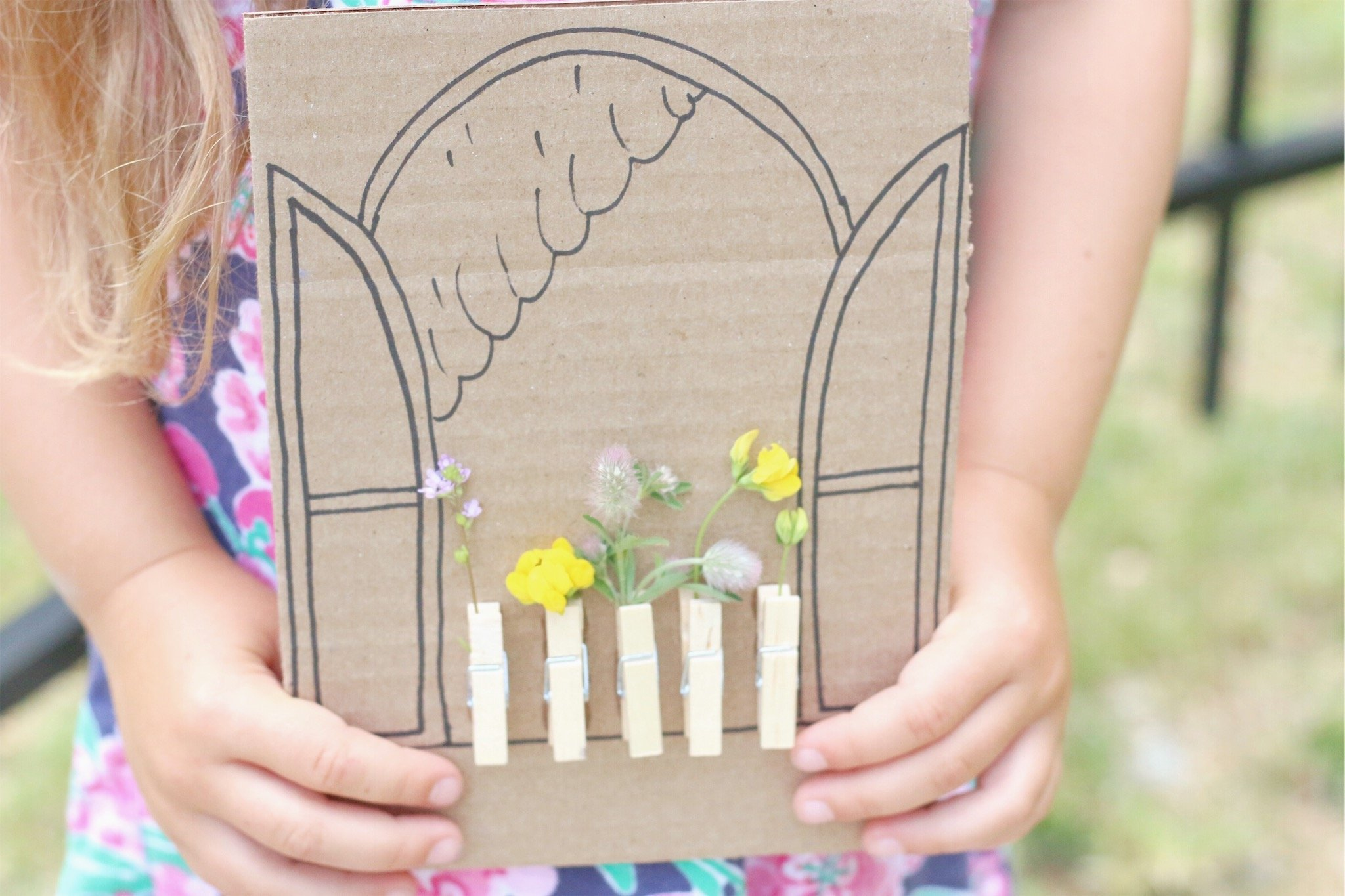 Cardboard Window Wildflower Craft