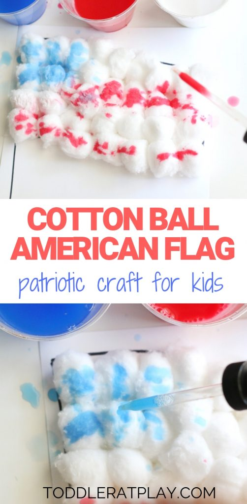 cotton ball american flag- toddler at play (1)