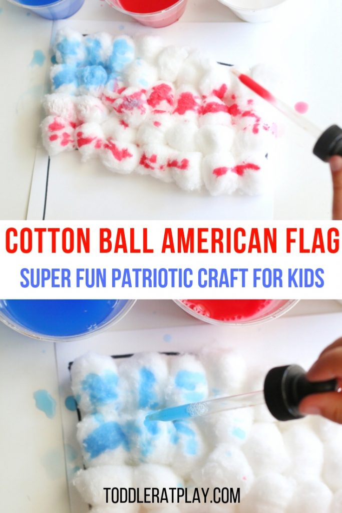 cotton ball american flag- toddler at play (15)