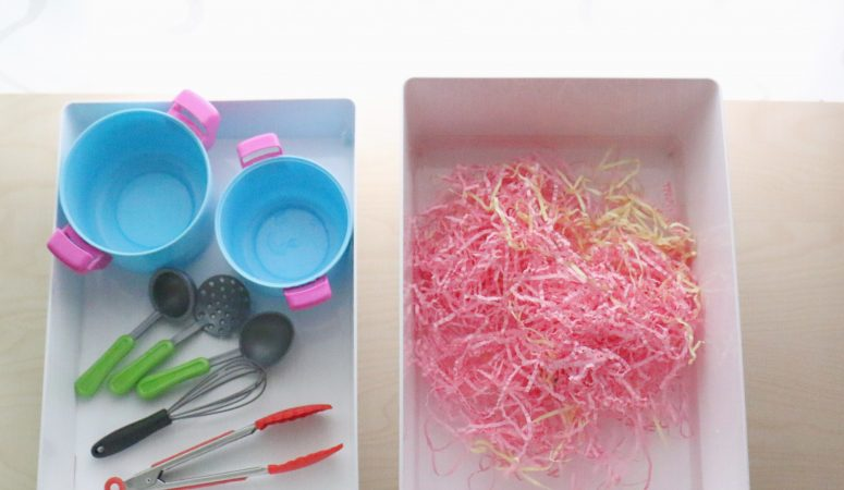 Crinkle Paper Soup Sensory Activity