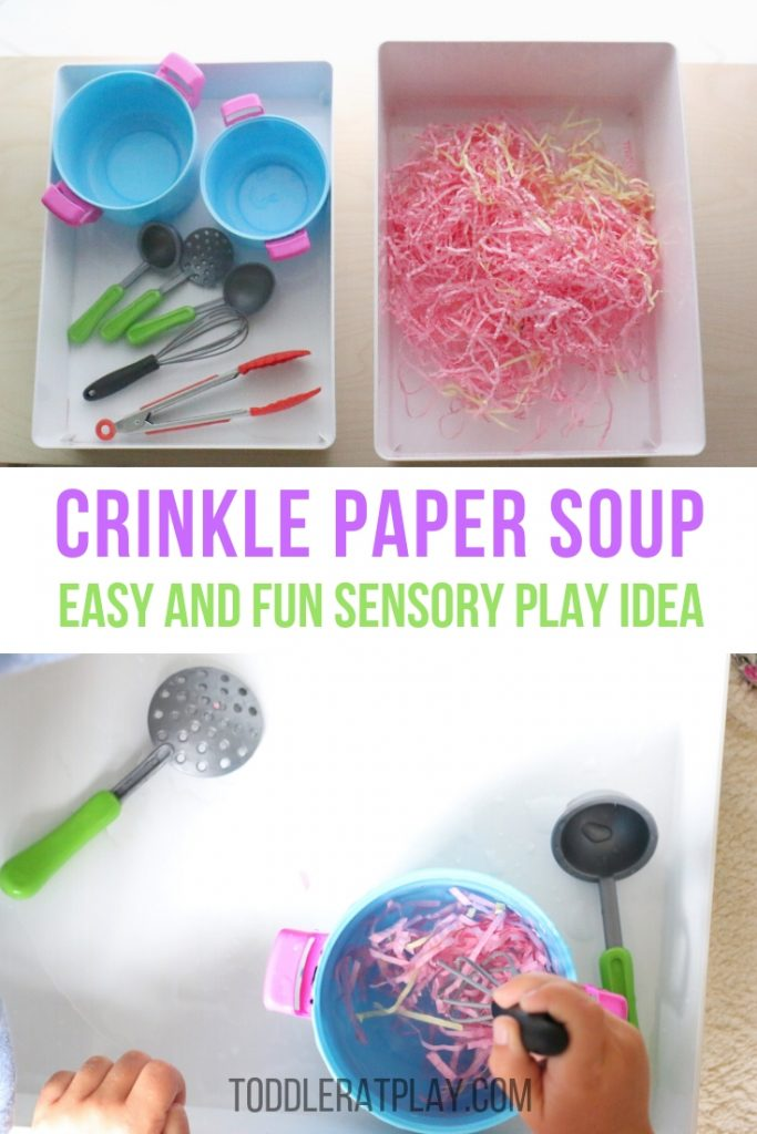 crinkle paper soup- toddler at play (6)
