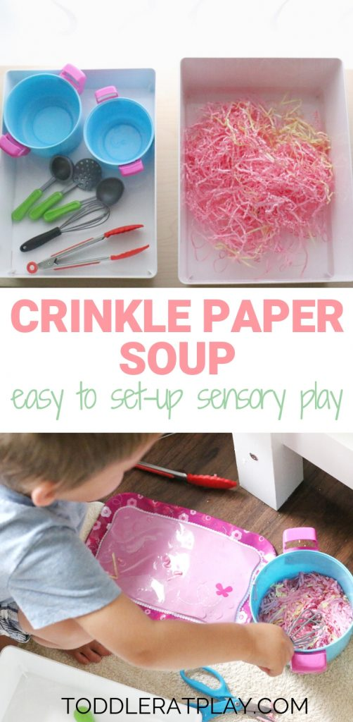 crinkle paper soup- toddler at play (7)