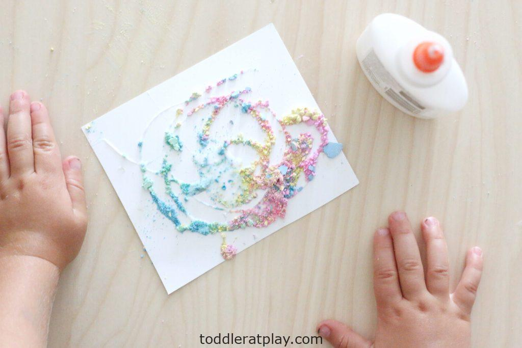 crushed chalk art- toddler at play (14)