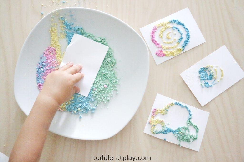 crushed chalk art- toddler at play (15)