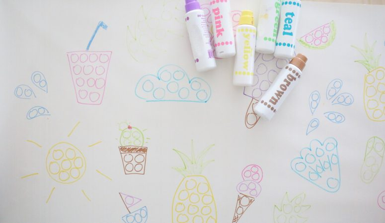 Giant Dot Marker Coloring Page (Summer theme)