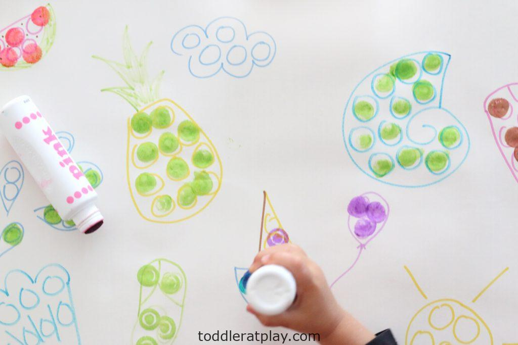 giant dot marker coloring page- toddler at play (10)
