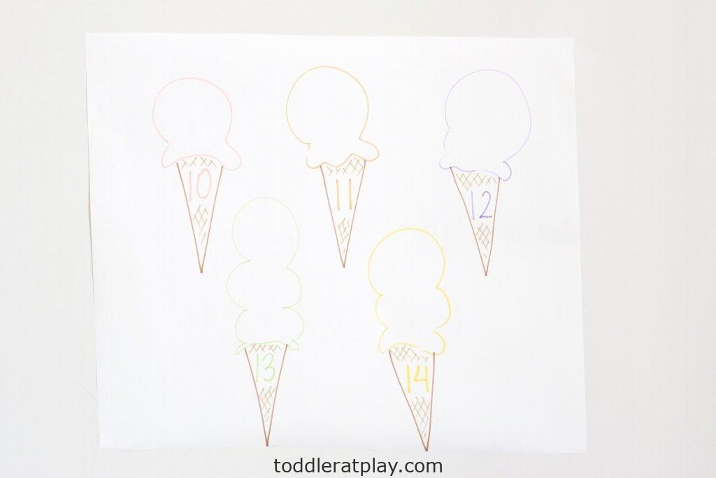 ice cream sprinkles count- toddler at play (8)