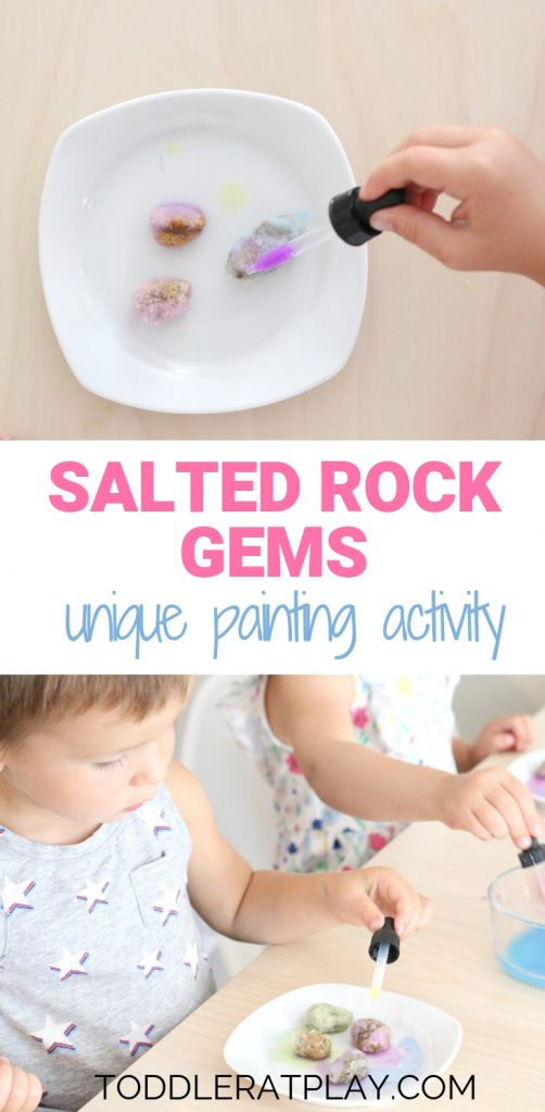 painting salted rock gems - toddler at play (1)