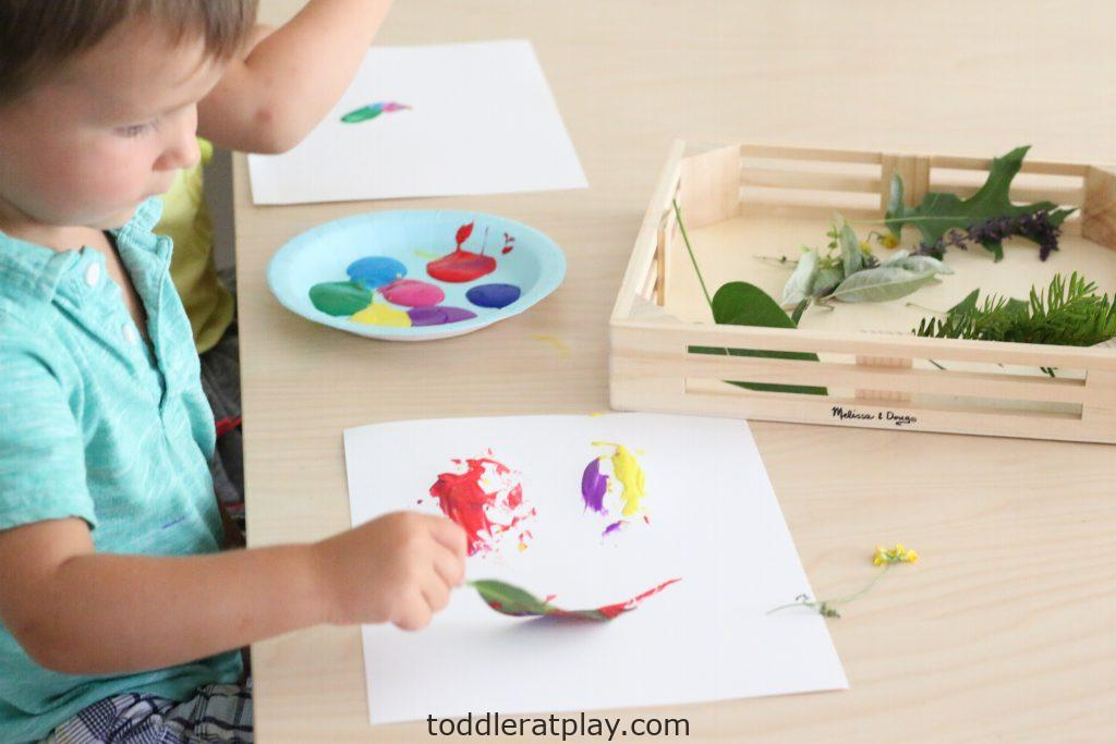 painting with nature- toddler at play (1)
