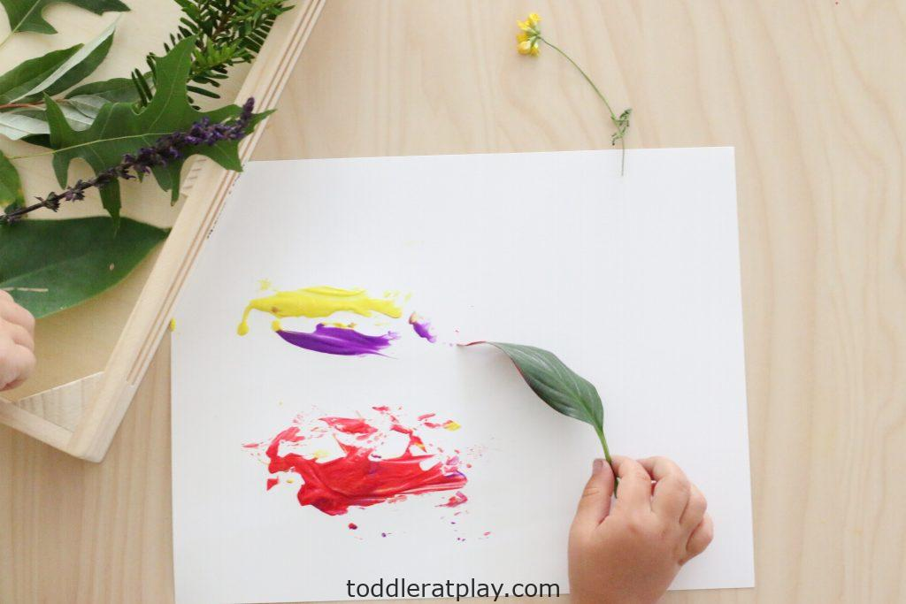 painting with nature- toddler at play (10)