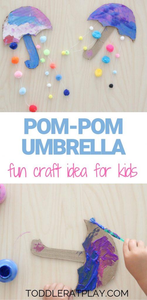 pom-pom umbrella- toddler at play (1)