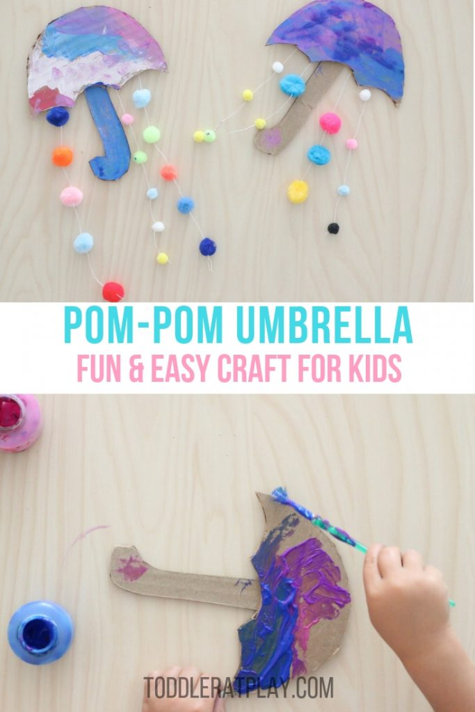 pom-pom umbrella- toddler at play (6)