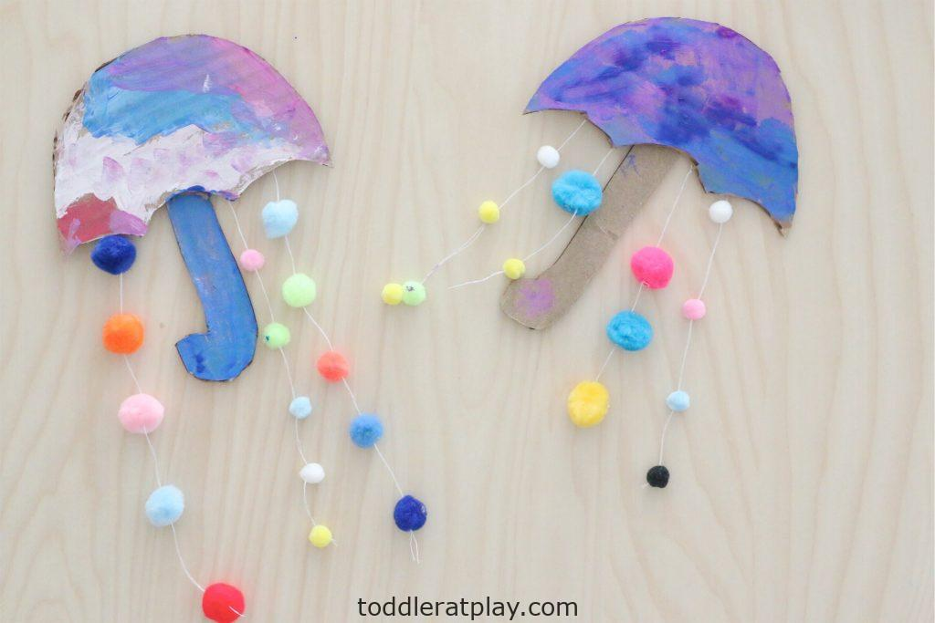 pom-pom umbrella- toddler at play (9)