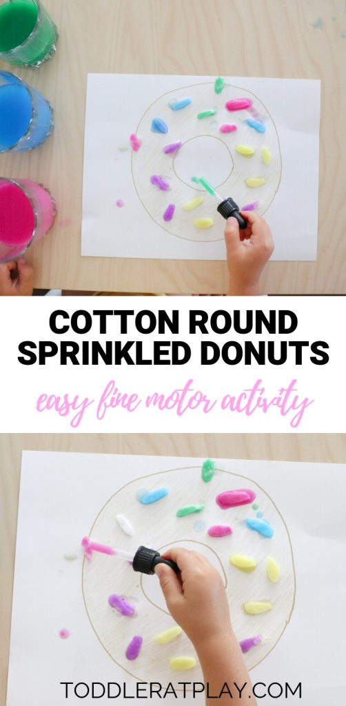cotton rounds sprinkled donuts- toddler at play (1)