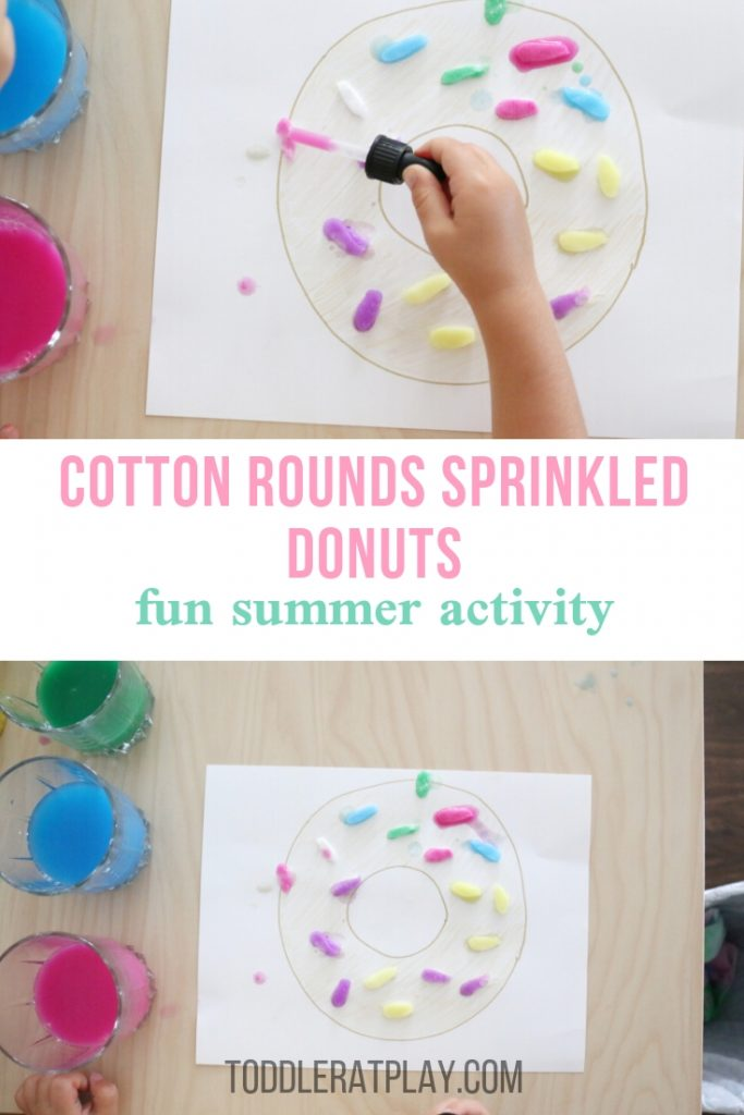cotton rounds sprinkled donuts- toddler at play (11)