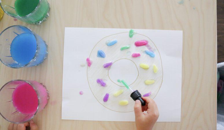 Cotton Round Sprinkled Donuts Craft